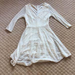 White Lace Skater Dress
